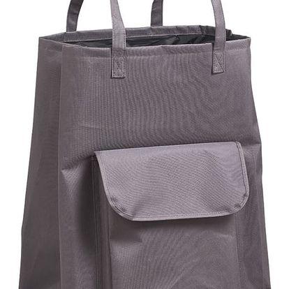 Taška na prádlo, nákupy, šedá barva, 40 x 33 x 60 cm, ZELLER