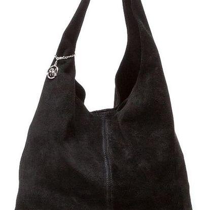 Černá kožená kabelka Isabella Rhea 885
