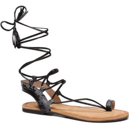 Dámské černé sandály Kirsten 6010