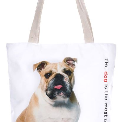 Fashion Icon Módní textilní taška Our Friends pejsky bavlněná