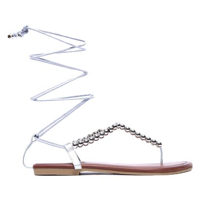 Dámské stříbrné sandály Paloma 6122