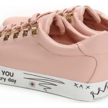 Dámské růžové tenisky Nicole 8362