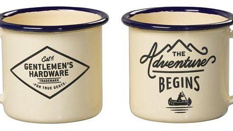 Sada 2 smaltovaných hrnků na espresso Gentlemen's Hardware, 150 ml
