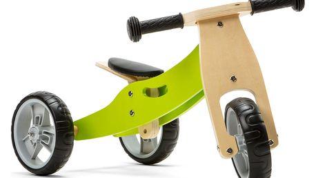 NICKO Dřevěné odrážedlo 2v1 mini tříkolka – zelené