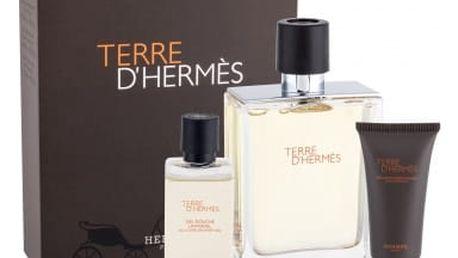 Hermes Terre D´Hermes 100 ml dárková kazeta dárková sada pro muže toaletní voda 100 ml + sprchový gel 40 ml + balzám po holení 15 ml