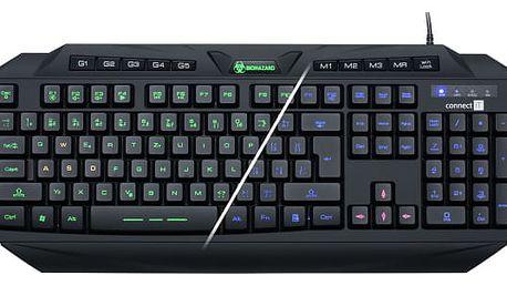 Klávesnice Connect IT Biohazard GK2000, CZ černá (CI-218)