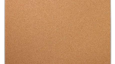 Korková tabule na poznámky, hliníkový rám, 30x40 cm, EMAKO Emako
