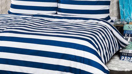 4Home bavlněné povlečení Navy, 140 x 220 cm, 70 x 90 cm