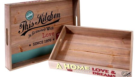 Snídaňový podnos, číšnický VINTAGE HOME - 2 ks Home Styling Collection