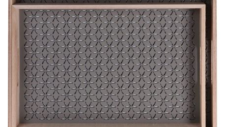 Dřevěný podnos snídaňový - 2ks, barva hnědá Home Styling Collection