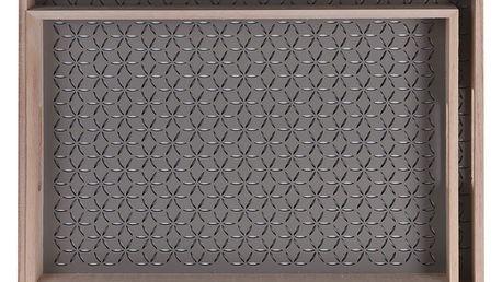 Home Styling Collection Dřevěný podnos snídaňový - 2ks, barva hnědá