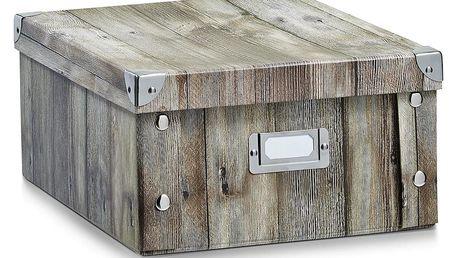 Box pro skladování, WOOD, 31x26x14 cm, ZELLER