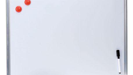 Bílá, magnetická poznámková tabule + příslušenství Emako