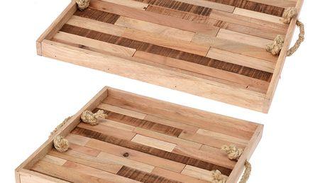 Dřevěný podnos snídaňový - 2 ks Home Styling Collection