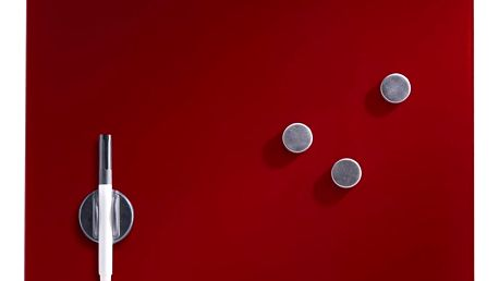 Skleněná magnetická tabule MEMO + 3 magnety, 40x40 cm, ZELLER