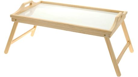 Snídaňový stolík, dřevěný podnos s nohama, 50x30 cm Home Styling Collection