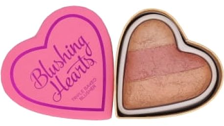Makeup Revolution London I Heart Makeup Blushing Hearts 10 g tvářenka pro ženy Peachy Keen Heart