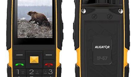 Mobilní telefon Aligator R20 eXtremo černý/žlutý (AR20BY)