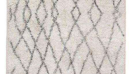HK living Bavlněný kobereček/předložka Printed Beni, černá barva, textil