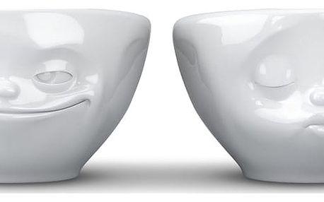 Sada 2 bílých zamilovaných malých šálků 58products