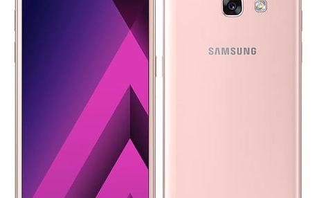 Mobilní telefon Samsung A3 (2017) (SM-A320FZINETL) růžový Software F-Secure SAFE, 3 zařízení / 6 měsíců v hodnotě 979 Kč + DOPRAVA ZDARMA