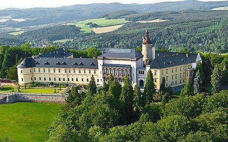 2–3denní luxusní pobyt s wellness a snídaněmi v Chateau hotelu Zbiroh**** pro 2 osoby