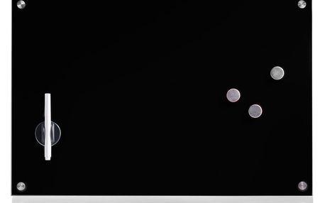 Skleněná magnetická tabule MEMO + 3 magnety,60x40 cm, ZELLER