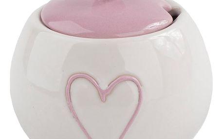 Keramická cukřenka Heart, růžová