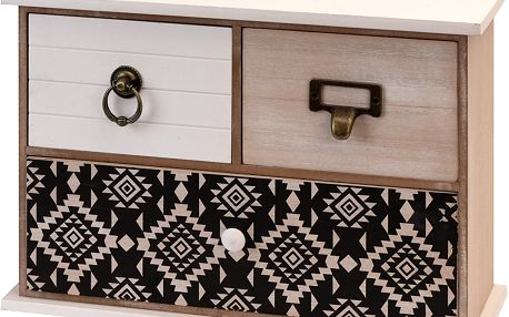 Dřevěná skříňka se zásuvkami na drobnosti, 3 přihrádky Home Styling Collection