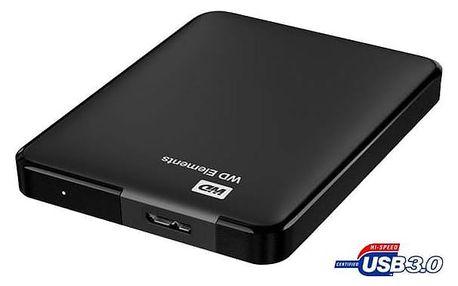 Western Digital Elements Portable 1TB (WDBUZG0010BBK-WESN) černý