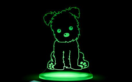 Dětské LED noční světýlko Aloka Puppy