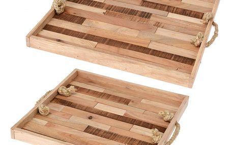 Home Styling Collection Dřevěný podnos snídaňový - 2 ks
