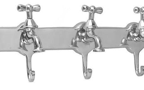 Home Styling Collection Věšák dekorativní WATER TAP 5 háčků