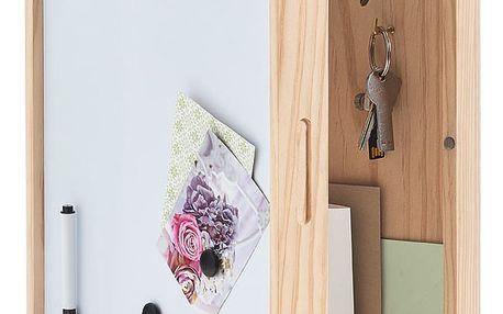 Skříňka na klíče, magnetická tabule, 30x8x42 cm, ZELLER