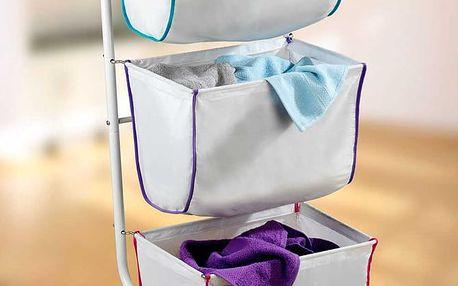 Koš na prádlo ESCALA - vozík, 3 patra, WENKO