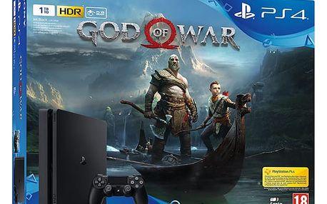Herní konzole Sony PlayStation 4 SLIM 1TB + God of War černá (PS719384878)