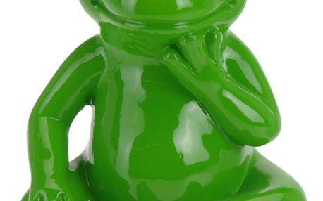 ProGarden Dekorace na zahradu zelená žába - 14 cm