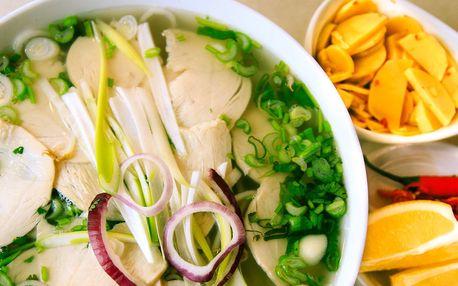 Asijské menu s polévkou Pho či restovaným masem