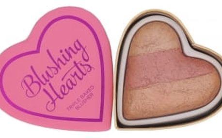 Makeup Revolution London I Heart Makeup Blushing Hearts 10 g tvářenka pro ženy Peachy Keen Heart