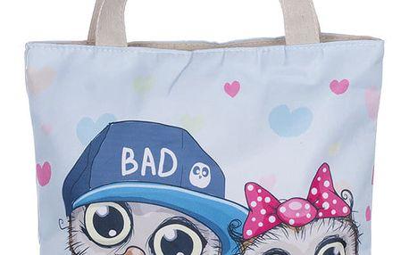Fashion Icon Módní textilní taška Sovy bavlněná