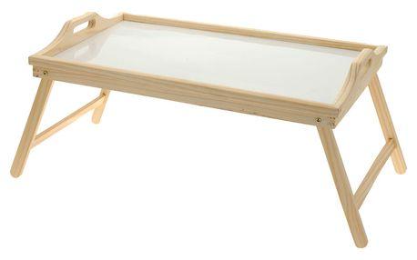 Home Styling Collection Snídaňový stolík, dřevěný podnos s nohama, 50x30 cm