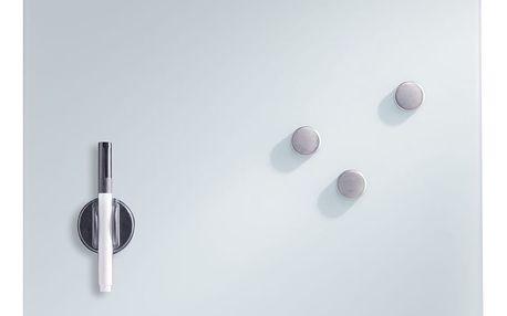 MEMO skleněná magnetická tabule + 3 magnety, 40x40 cm, ZELLER