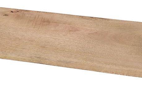 Dřevěný podnos pro podávání jídel s hliníkovými rukojetími EH Excellent Houseware
