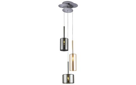 Stříbrno-zlaté stropní svítidlo Alize,Ø23cm