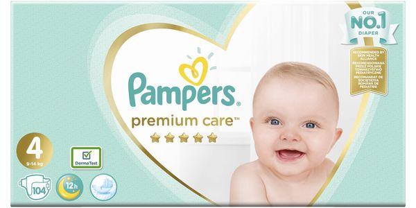 PAMPERS Premium Care 4 MAXI 104ks (9-14 kg) MEGA Box - jednorázové pleny