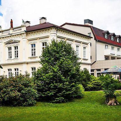Severní Čechy v luxusním 4* Parkhotelu Morris Nový Bor s wellness, balneo procedurami a polopenzí – platnost přes celé léto
