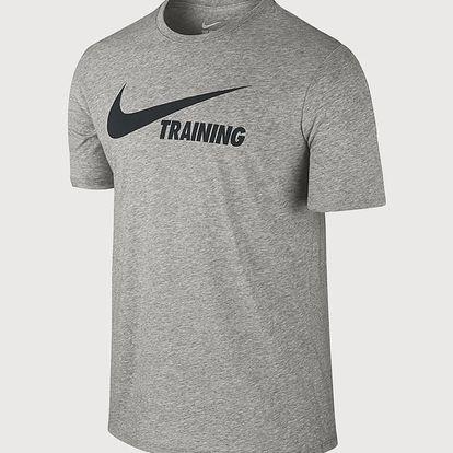 Tričko Nike Training Swoosh Tee Šedá