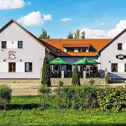 Jižní Čechy romanticky v hotelu v centru historického města Slavonice na okraji České Kanady s vínem a polopenzí