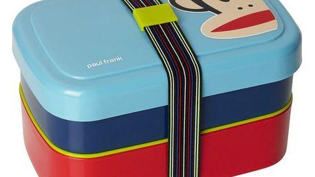 Modrý dvoupatrový svačinový box LEGO® Paul Frank