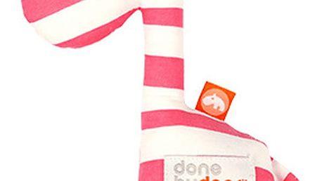 Růžové chrastítko Done by Deer Raffi - doprava zdarma!